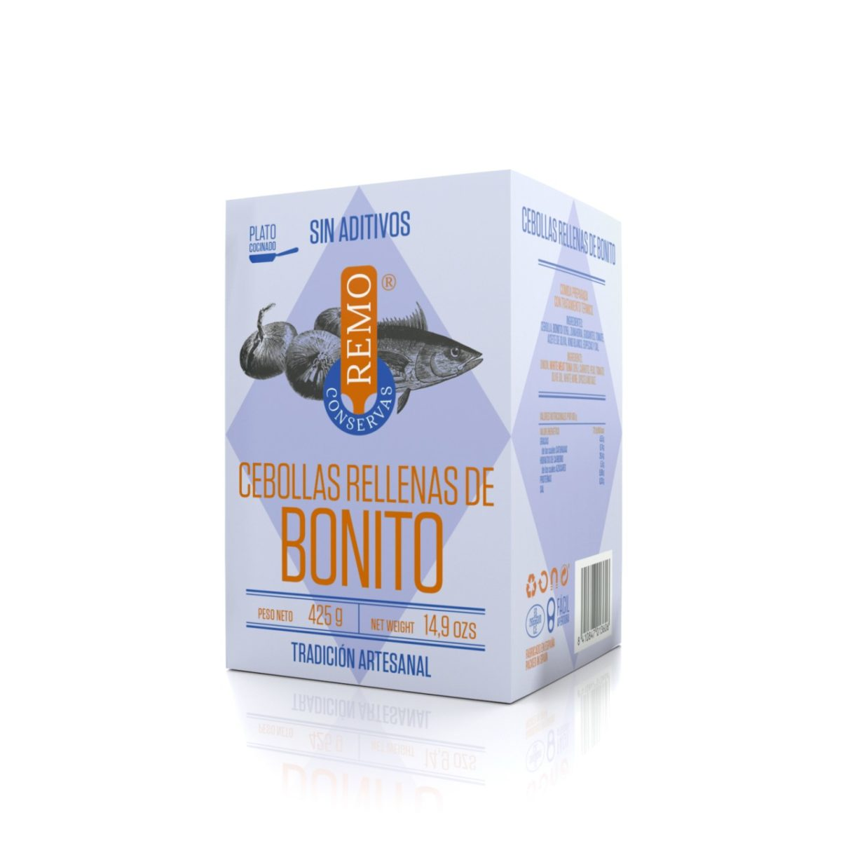 Cebollas rellenas de Bonito de Conservas Remo, platos cocinados de Asturias, Gorfolí tienda online de productos gourmet asturianos