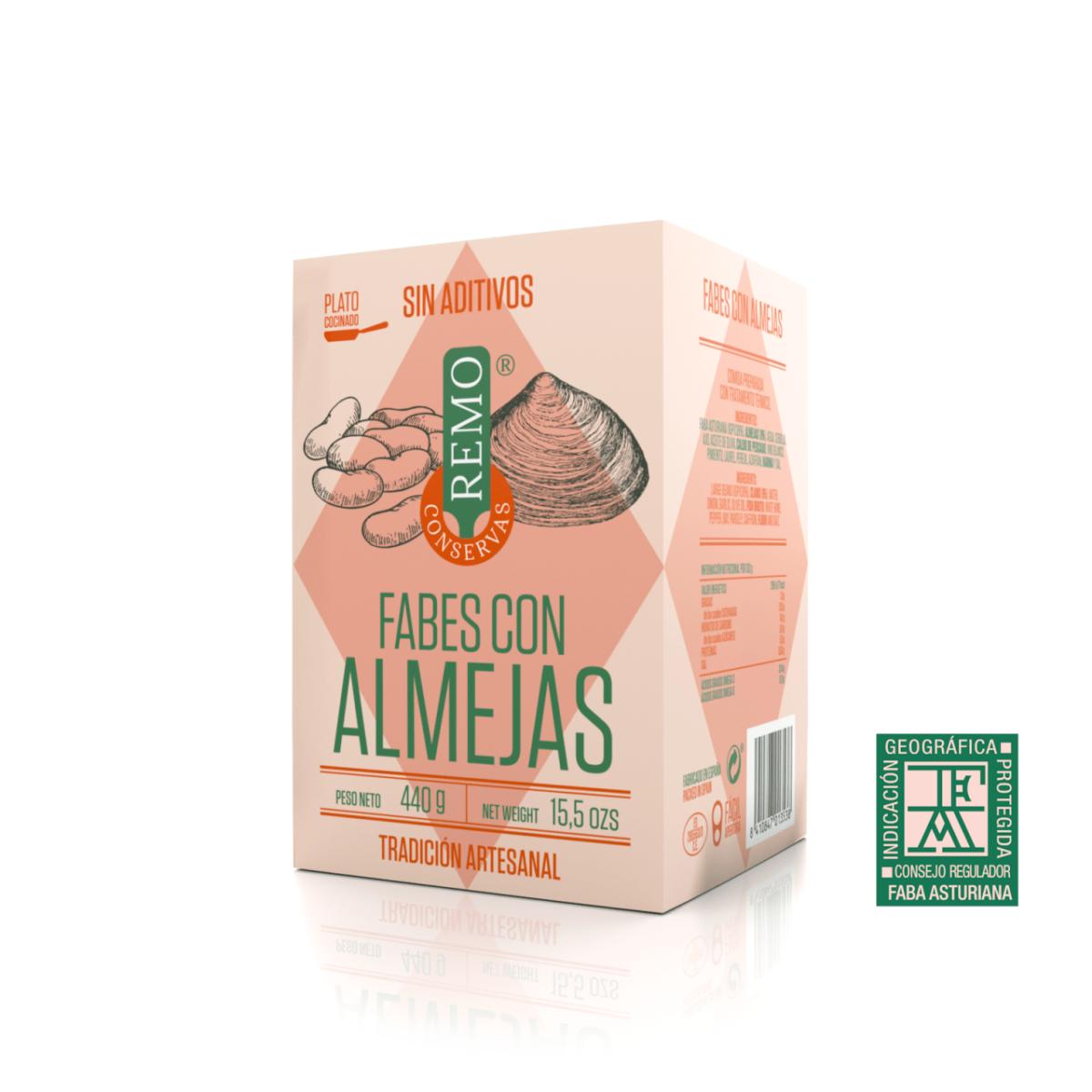 Fabes con Almejas de Conservas Remo, platos cocinados asturianos, Gorfolí tienda online de productos gourmet de Asturias