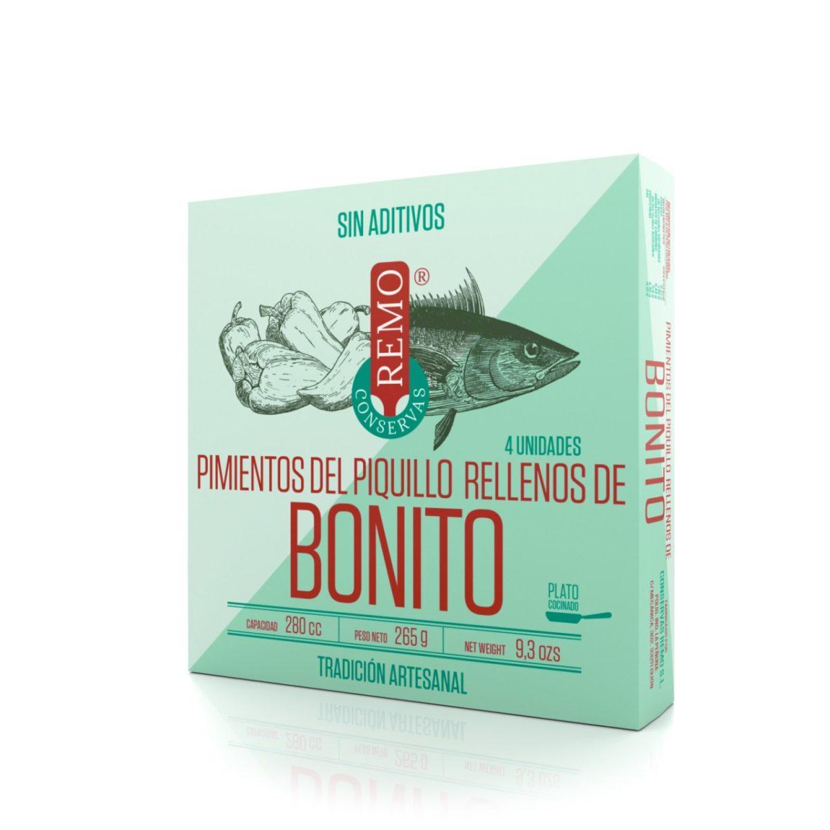 Pimientos del Piquillo rellenos de Bonito de Conservas Remo, Gorfolí tienda online de productos gourmet asturianos