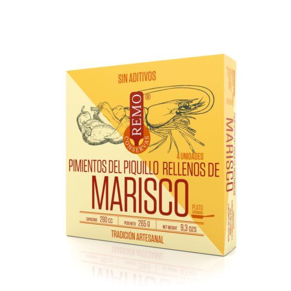 Pimientos del Piquillo rellenos de Marisco de Conservas Remo, Gorfolí tienda online de productos gourmet asturianos