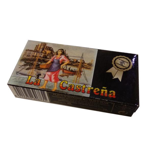 Filetes de Anchoa del Cantábrico en aceite de oliva La Castreña, Gorfolí tienda online de productos gourmet